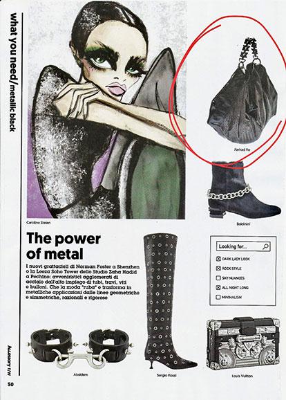 Farhad Re bag the power of metal