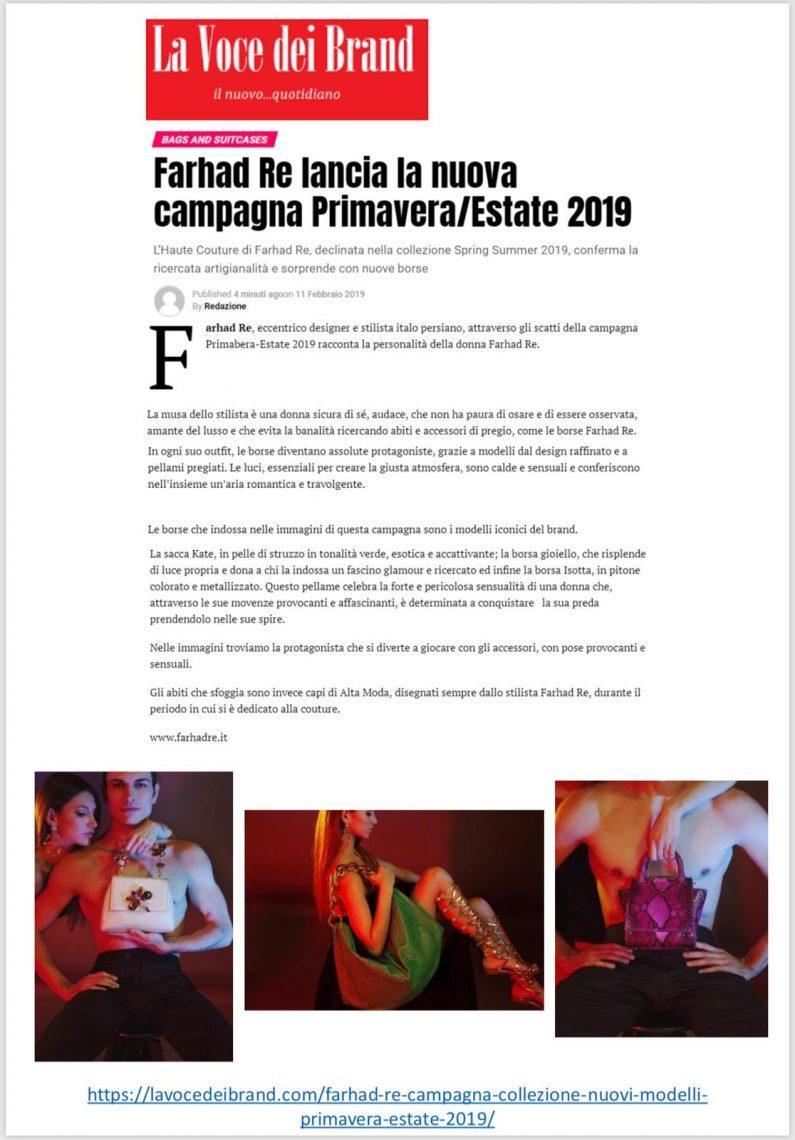 Farhad Re collezione primavera estate 2019